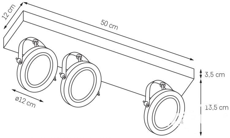 Visio listwa spot asymetryczna 3x50W G53 50cm biały