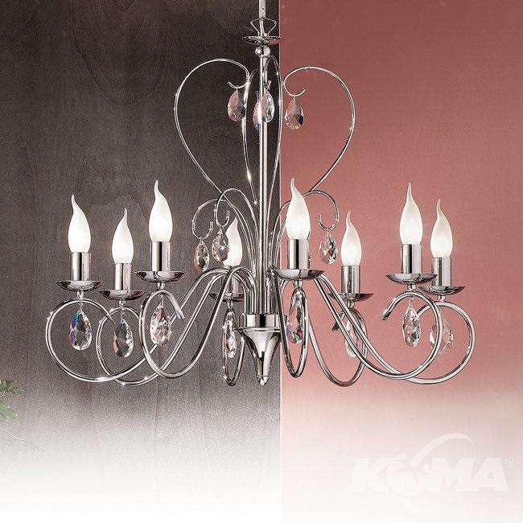 Alessia żyrandol lampa wisząca 8x40W E14 2302V chrom