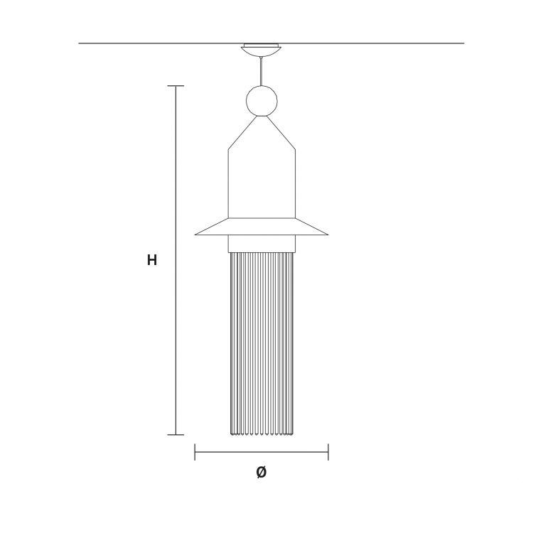 Nappe N2 lampa wisząca 5W LED 3000K 230V biała