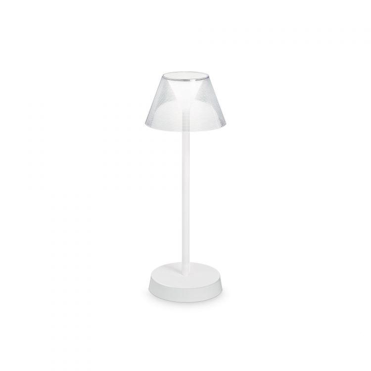 tl lampa stołowa biała Lolita IDEAL LUX