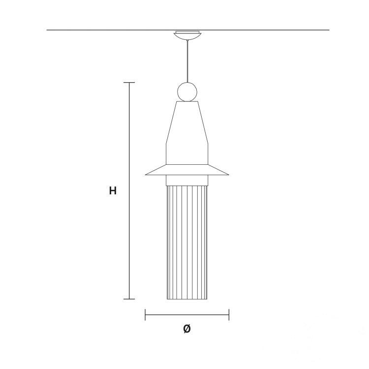 N5 lampa wisząca Nappe MASIERO