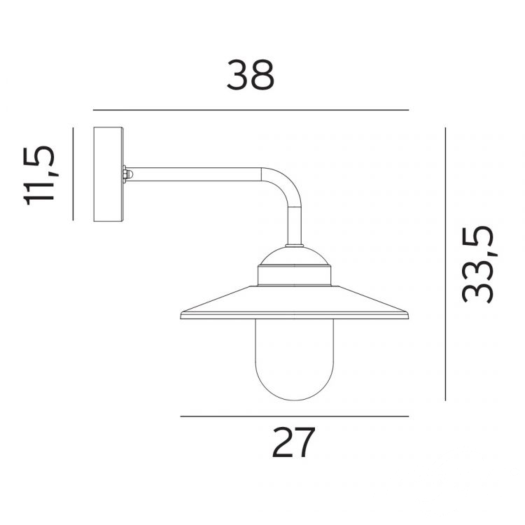 Vansbro kinkiet zewnętrzny 1x57W E27 230V biały