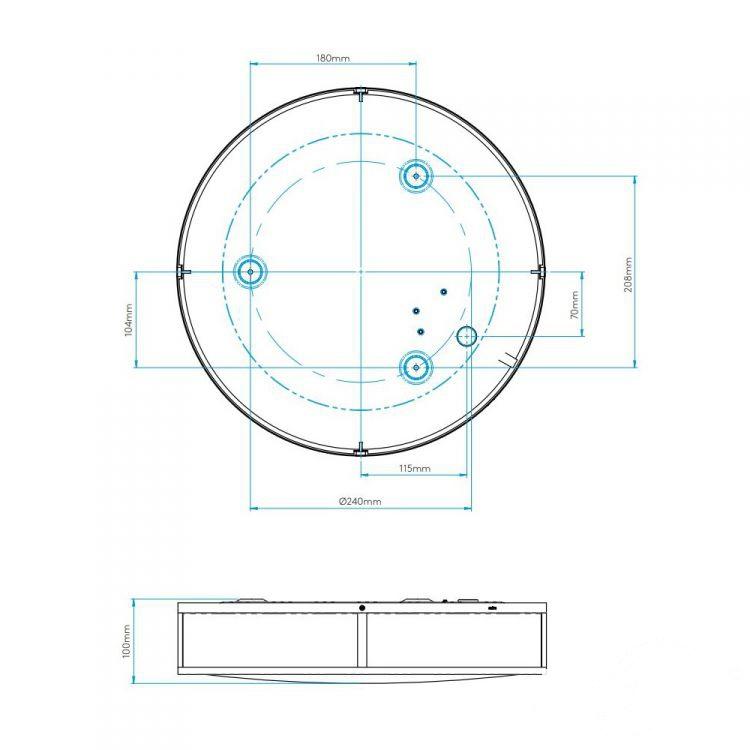Round plafon łazienkowy Mashiko ASTRO