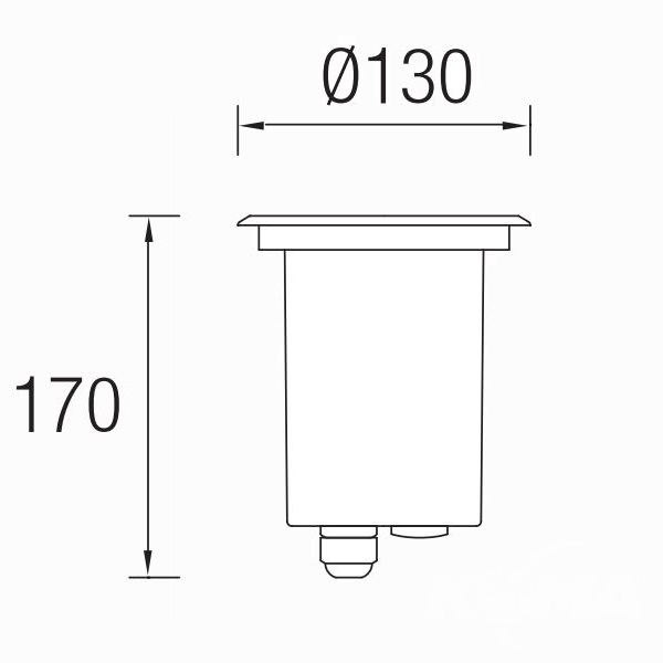 lampa zewnętrzna wpuszczana Gea LEDS C4