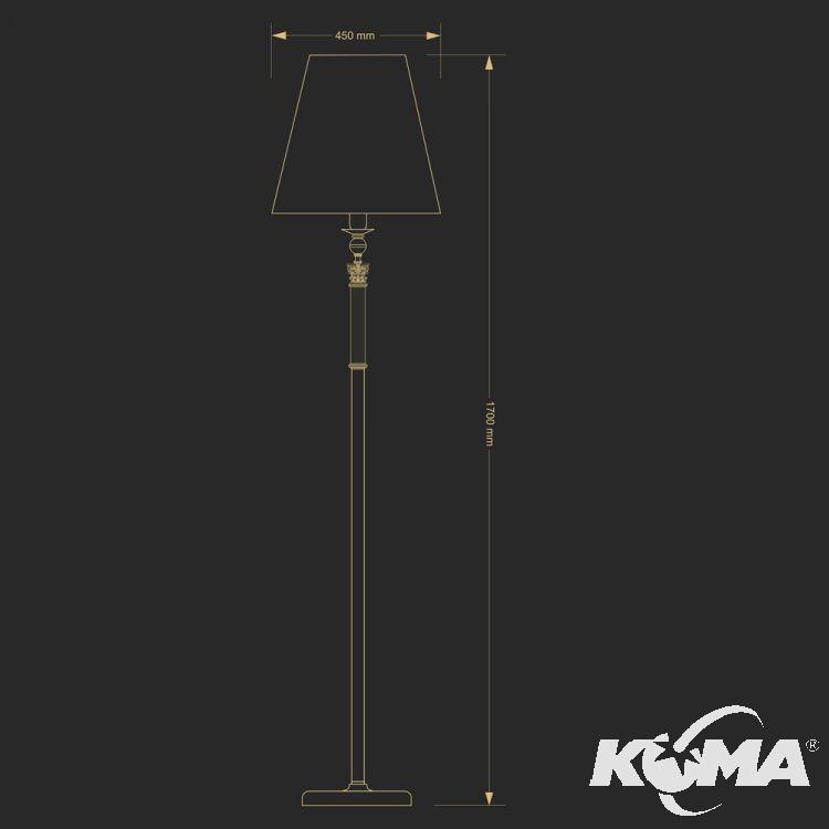 lampa stojąca patyna Merano KUTEK