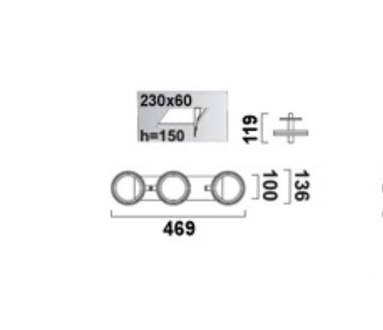 Optique D31 oprawa stropowa G53 3x50W C02 - czarny 12V