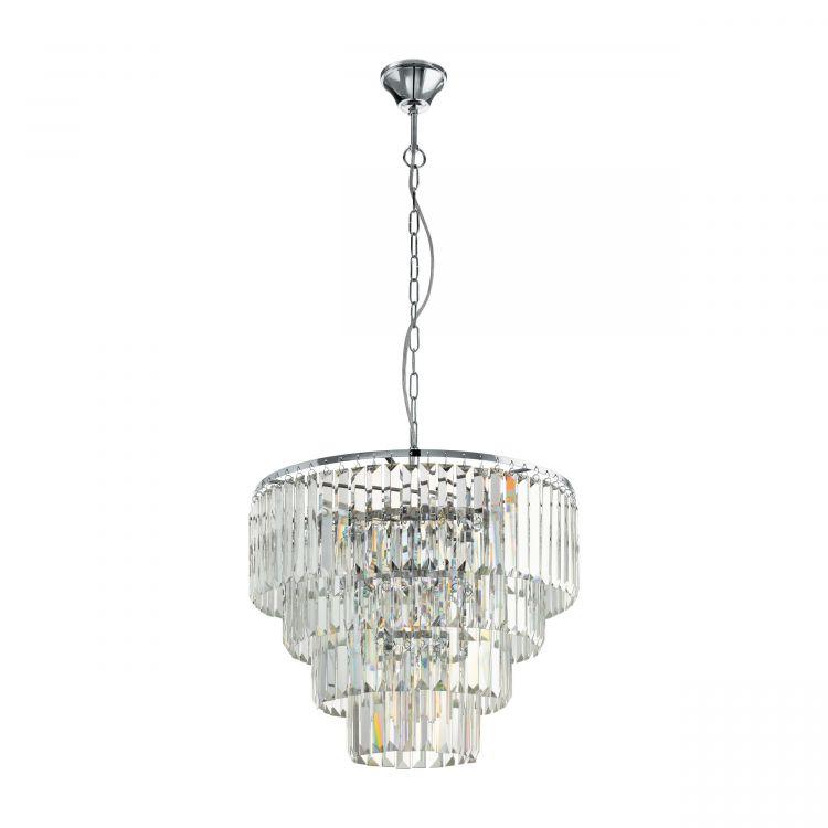 lampa wisząca chromowa/transparentna Agrigento EGLO