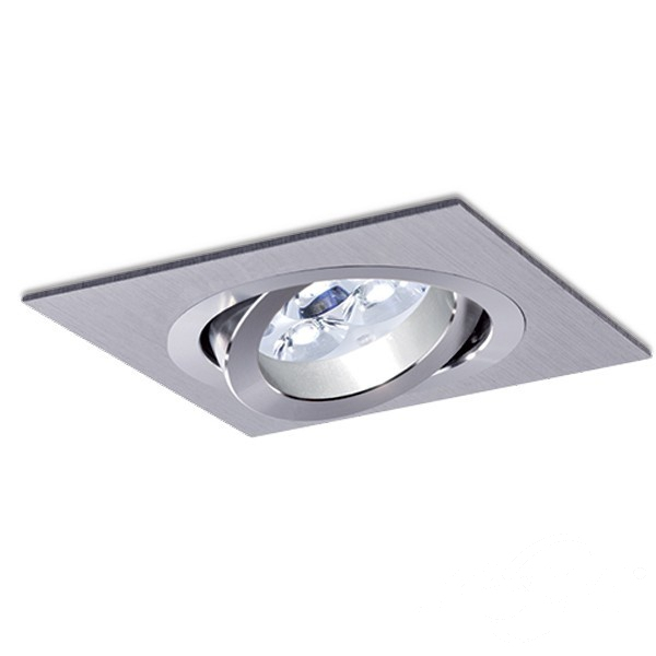 Mini Catli lampa wpuszczana 1x50W GU5.3 12V aluminium szczotkowane