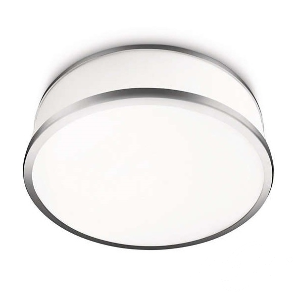 Dew plafon łazienkowy 1x20W E27 230V biały + elementy chromu