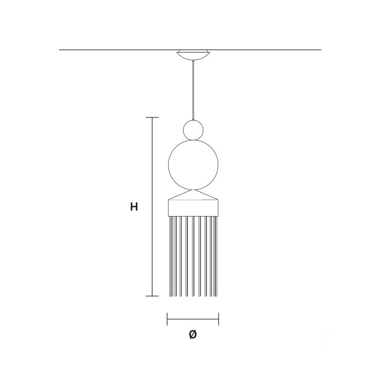 Nappe XL3 lampa wisząca 12W LED 3000K 230V biała
