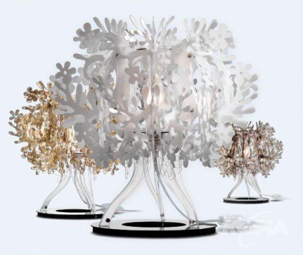 Fiorellina lampa stolowa 1x12W E14 h34cm, dymny