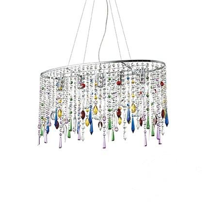 Rain Color lampa wisząca 5x40W E14 230V wielokolorowa