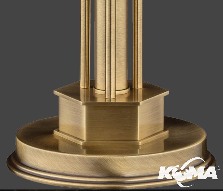 lampa stołowa nikiel błyszczący Decor KUTEK