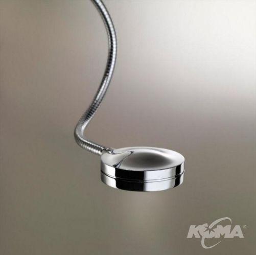 Lexa fl1 kinkiet 1x60W E27 + 1x1.2w led chrom/biala wstazka