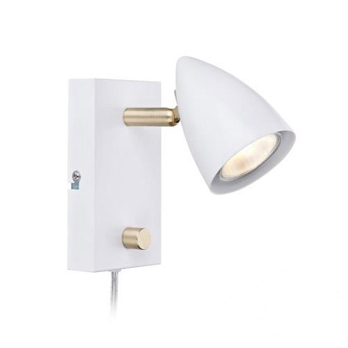 Ciro kinkiet reflektor 1x35W GU10 230V biały + złoty szczotkowany