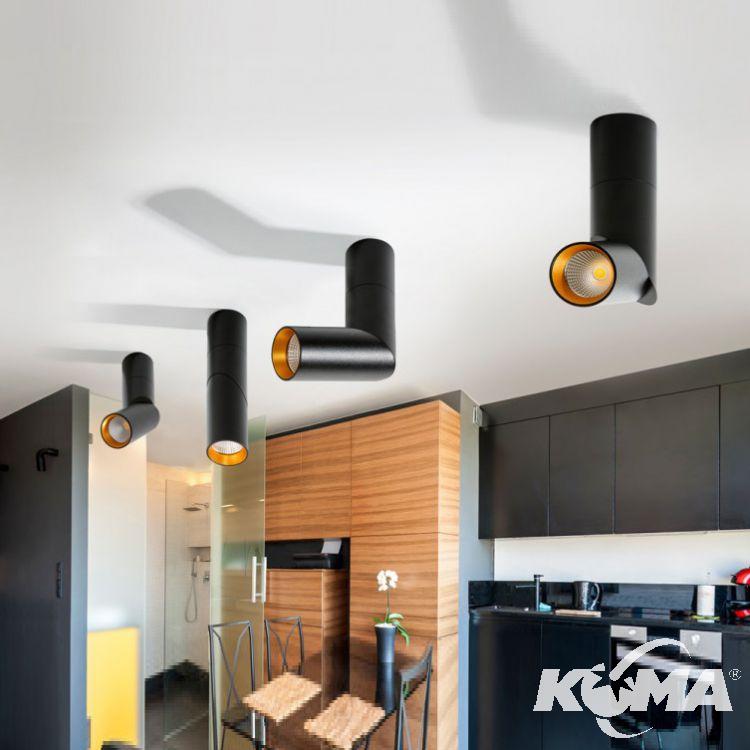 Santos lampa sufitowa 12W LED 3000K 230V czarna