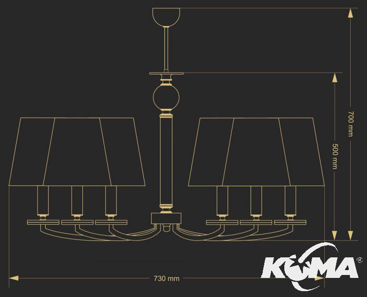 lampa wisząca patyna Sara