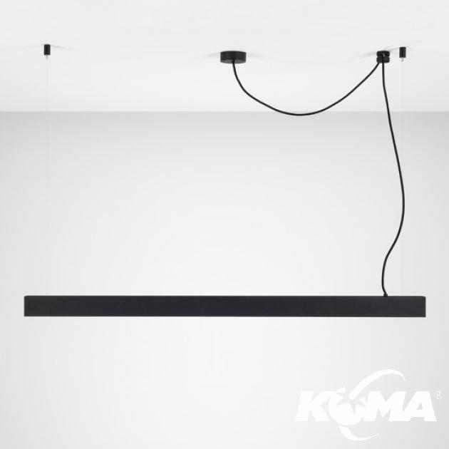 Accent Z 60 lampa wisząca 25,2W LED 2700K 230V czarna