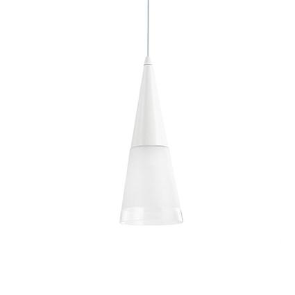 Cono lampa wisząca 1x40W E14 230V biała