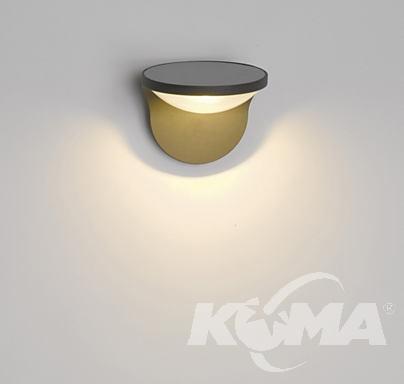 Dusk wall lantern led antracit 1x1W kinkiet zewnętrzny Z kolektorem antracytowy