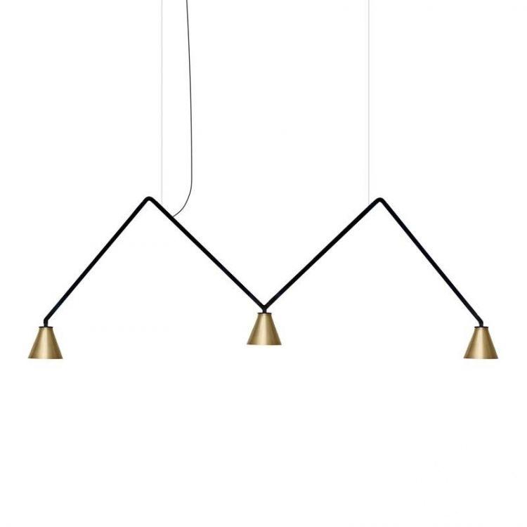 lampa wisząca czarna/złota Dabliu_spot NEMO