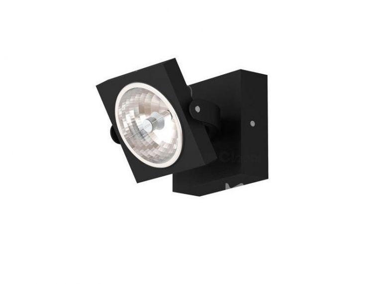 Dedra reflektor / kinkiet 1x100W G53 12V srebrny mat