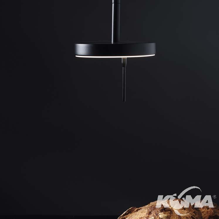 Invisible lampa wisząca 9W LED 3000K czarna DIMM