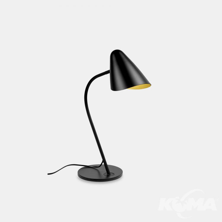 lampa stołowa czarna/złoty Organic LEDS C4