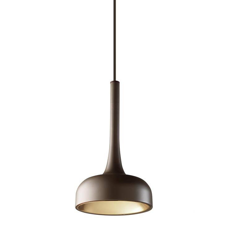 Sixties lampa wisząca 11W LED 3000K ciemny brąz/błyszcząca miedź