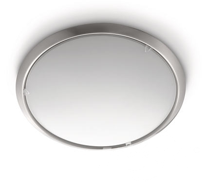 Circle ceiling lamp nickel 2x75W E27 plafon matowy chrom