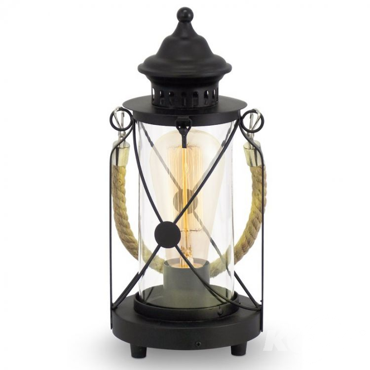 lampka E27/60W czarna Vintage EGLO