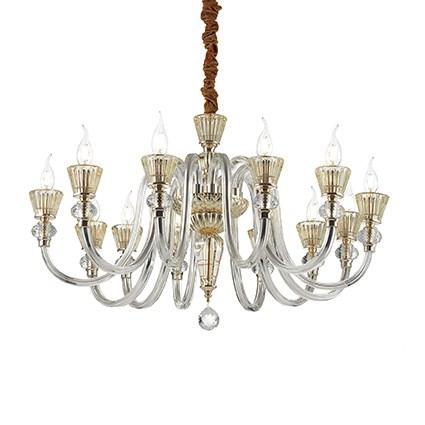 Strauss lampa wisząca 12x40W E14 230V złota