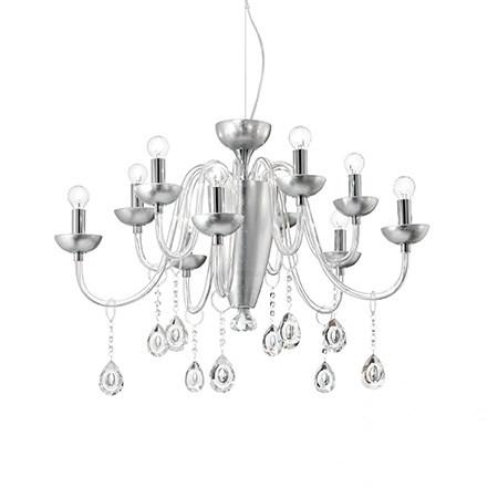 Camelia lampa wisząca 10x40W E14 230V srebrna
