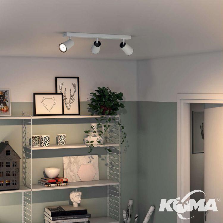 Paisley lampa sufitowa reflektor 3x10W GU10 230V biała