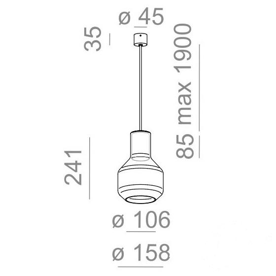 Glass Barrel TP lampa wisząca Modern AQFORM