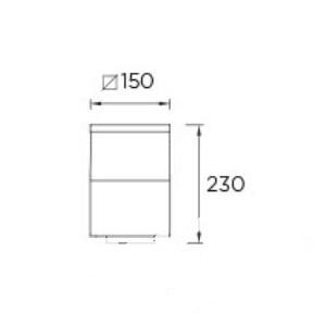 Cubik lampa stojąca zewnętrzna 1x60W E27 230V
