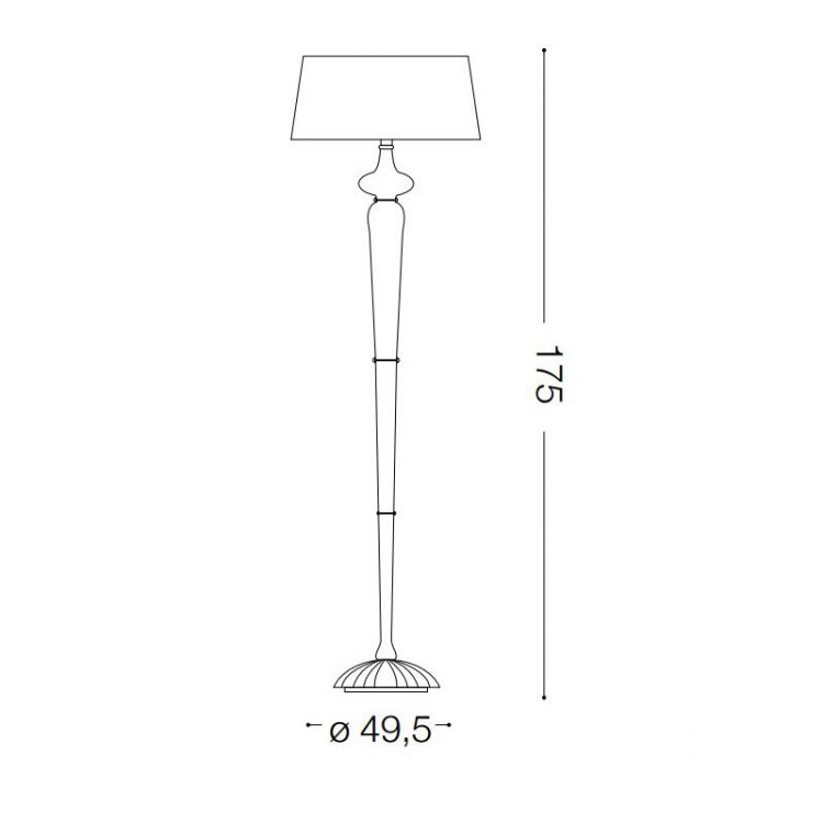 Forcola lampa podłogowa 1x60W E27 230V czarna