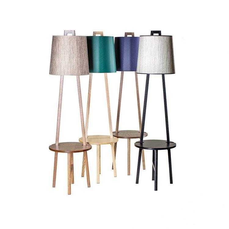 lampy stojące ze stolikiem