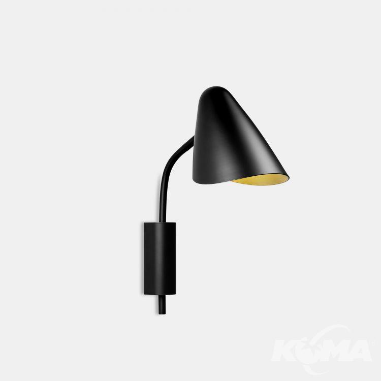 kinkiet czarny / złote wnetrze Organica LEDS C4