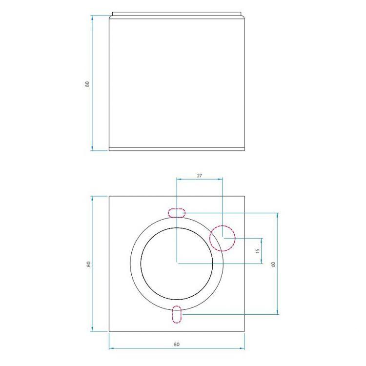 Kos Square lampa sufitowa łazienkowa 1x6W GU10 230V chrom IP65