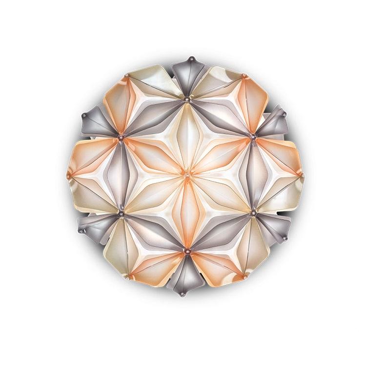 kwiat życia plafoniera bursztynowa  La_vie SLAMP
