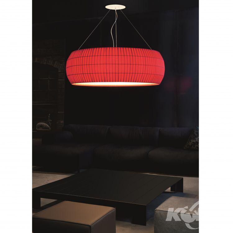 Isamu lampa wisząca 53cm 2x100W E27 230V czerwona