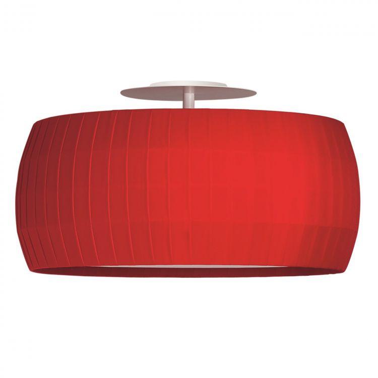Isamu lampa sufitowa 77cm 2x100W E27 230V czerwona