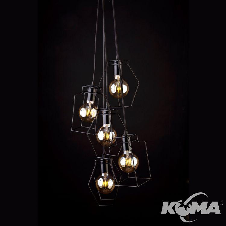 Fiord lampa wisząca 5x60W E27 230V