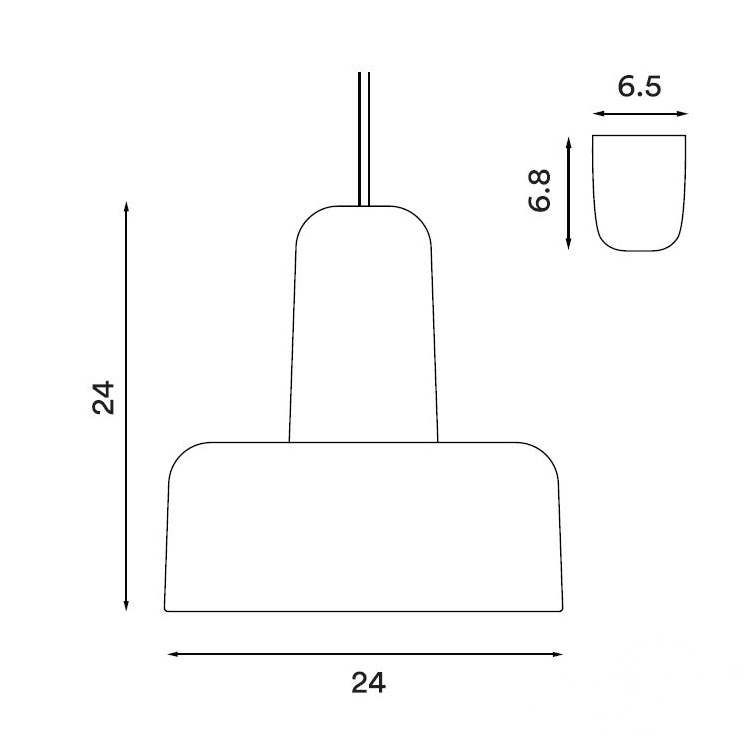 Meld lampa wisząca 1x60W E27 230V biała + szare elementy
