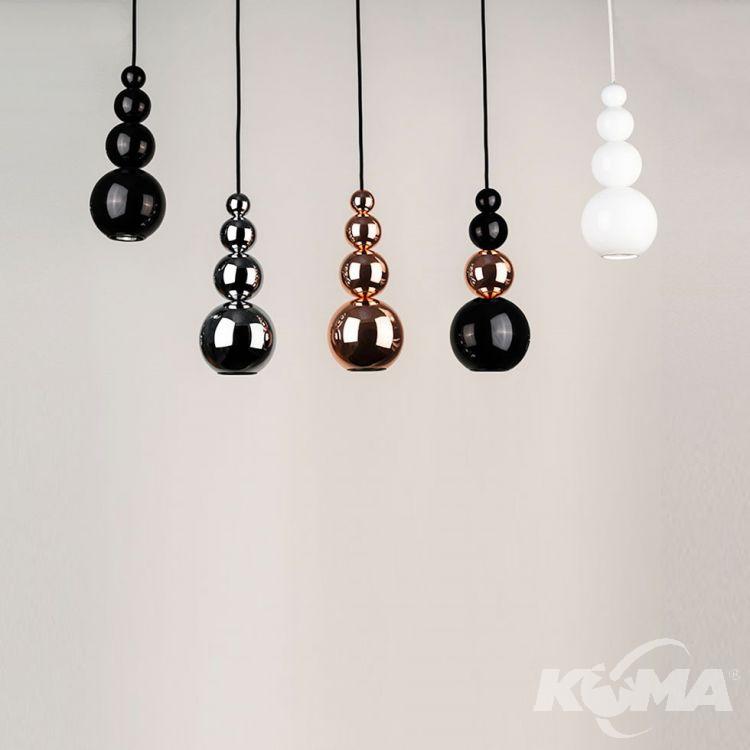 Bubble lampa wisząca 1x25W GU10 230V czarna