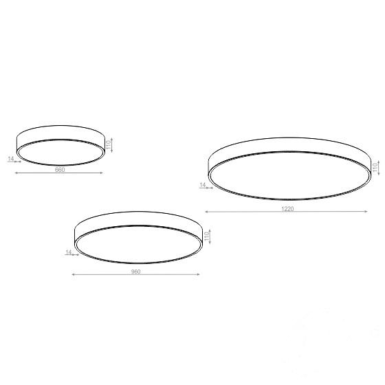 plafoniera biały mat śr.96 Big_size AQFORM