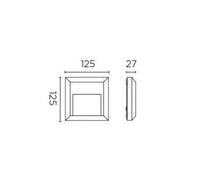 kinkiet zewnętrzny  biały Kossle LEDS C4