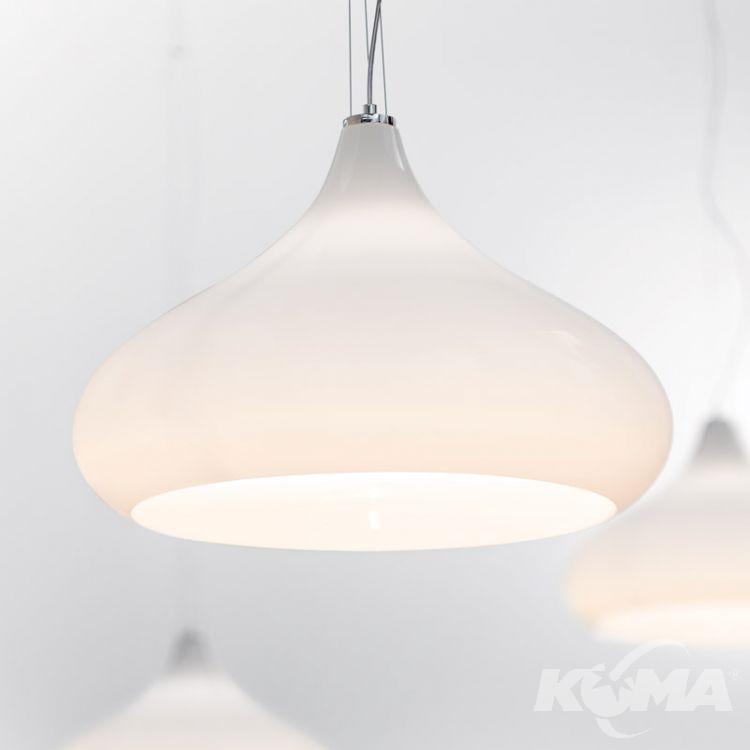 lampa wisząca biała szkło dwuwarstwowe weneckie Chestinut MAZZEGA