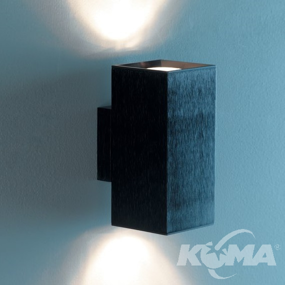 Dau Doble kinkiet 2x75W GU10 230V czarny/aluminium